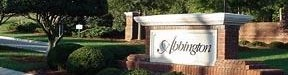 Photo of entrance sign to Abbington community neighborhood in Apex, NC